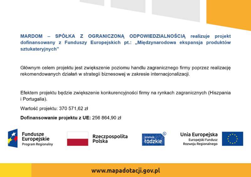 mardom-sp.pl - fundusze unijne